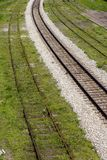 Railroad tracks. Railway tracks royalty free stock photo
