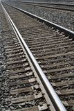 Railroad Tracks. Angled shot - actual framing not cropped royalty free stock images