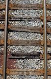 Railroad Tracks from Above. Railroad/railway tracks viewed from straight above stock images