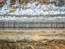 Railroad tracks aerial view Royalty Free Stock Photography