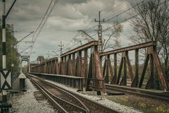 Railroad Tracks Against Sky Royalty Free Stock Images