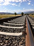 Railroad Tracks Against Sky Stock Photos