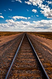 Railroad tracks. Beautiful view of the railroad tracks, to infinity Stock Image