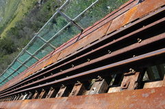 Railroad tracks on bridge Stock Photography