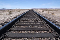 Desert railroad Royalty Free Stock Photo
