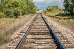 Railroad tracks in Colorado Stock Photos
