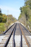 Railroad tracks in the country Royalty Free Stock Photo