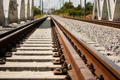 Railroad tracks details Royalty Free Stock Photography