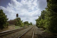 Railroad Tracks in Detroit, Michigan Royalty Free Stock Photo