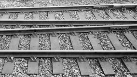 Train tracks in tandem royalty free stock photography