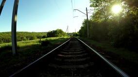 Railroad tracks stock footage