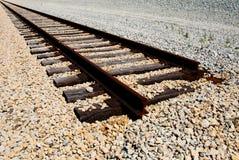 Railroad tracks end Stock Image