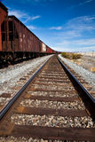 Railroad Tracks Fading Royalty Free Stock Photo