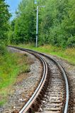 Railroad tracks. Royalty Free Stock Photo