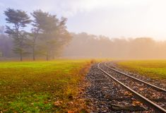 Railway to follow your dreams royalty free stock photography