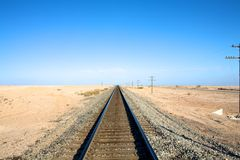 Railroad Tracks into Horizon Stock Photos