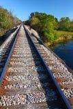 Railroad Tracks - Illinois. Railroad tracks go on for miles in northern Illinois Stock Photography