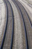 Railroad tracks in Indianapolis, Indiana Royalty Free Stock Photography