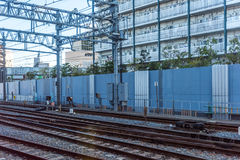 Railroad tracks in Japan Stock Images