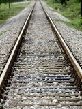 Railroad tracks. Leading to an infinite distance Royalty Free Stock Photos