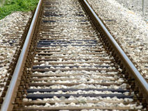 Railroad tracks. Leading to an infinite distance Stock Images