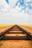 Railroad tracks leading to nowhere. Namibia Royalty Free Stock Photography