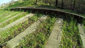 Railroad tracks on nature stock footage
