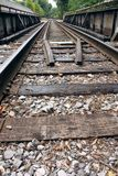 Railroad Tracks Over A Bridge Royalty Free Stock Images