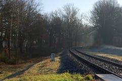 Railroad tracks. Royalty Free Stock Image