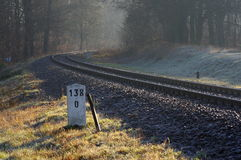 Railroad tracks. Royalty Free Stock Images