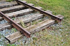 Railroad tracks. In the port of Magdeburg stock photography