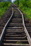 Railroad tracks , Rail Electric train Stock Photos