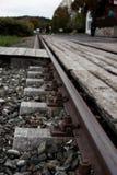 Railroad tracks, rails, railway, rail chair. Railroad tracks, rails, railway, rail chair transportation Royalty Free Stock Images