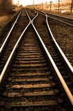 Railroad Tracks with Rails for Train Royalty Free Stock Photo