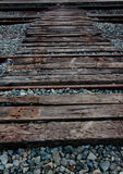 Railroad tracks and railway sleepers. Royalty Free Stock Photography