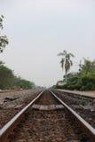 Railroad tracks and railway sleepers. Stock Photography