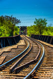 Railroad tracks in Richmond, Virginia. Royalty Free Stock Photography