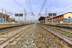 Railroad tracks at the RIFREDI FS station in Florence Stock Photography