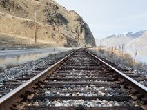 Railroad in Columbia river valley, WA royalty free stock image