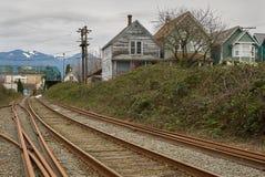 Urban Railroad Tracks, Vancouver Stock Image
