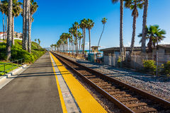 Railroad tracks in San Clemente  Royalty Free Stock Image