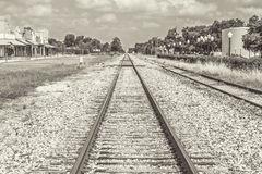 Railroad Tracks Sephia Tone Royalty Free Stock Photos