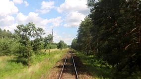Railroad tracks in summer nature stock footage