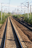 Railroad tracks and switch Royalty Free Stock Image
