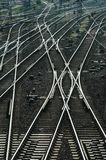 Railroad Tracks and Switches. Near a train staition Stock Photography