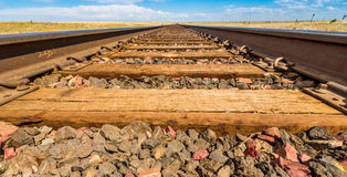 Railroad tracks. Taken just off Route 2 between Havre MT and Shelby MT stock images