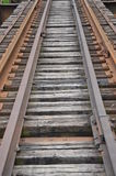 Railroad tracks and ties Stock Image