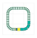 Railroad Tracks Toy Block Vector Illustration Royalty Free Stock Photo