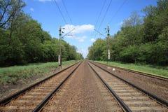 Railroad tracks. Royalty Free Stock Photo