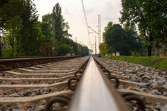 Railroad Tracks. Transportation Poland Silesia Stock Image